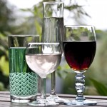 Glas med olika innehåll
