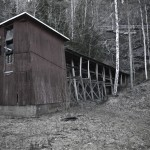 Gammal gruvbyggnad