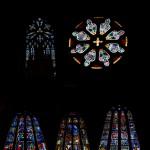 En samling fönster från Skara domkyrka
