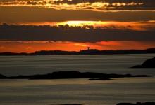 Solnedgång vid Stångehuvud