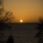 Solnedgång i Vättern